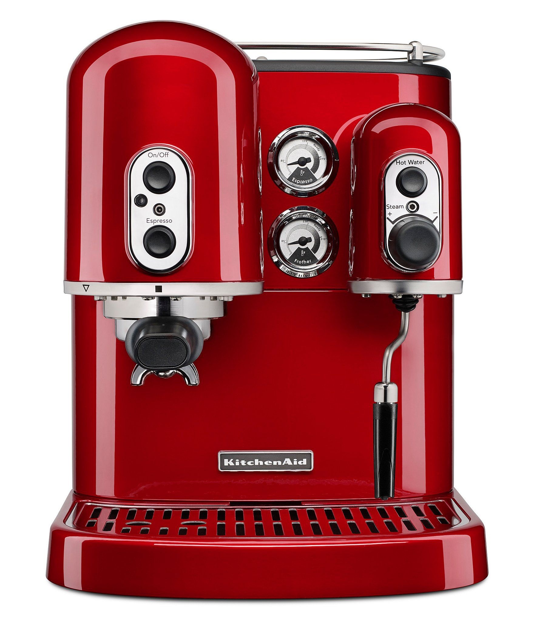 KitchenAid Pro Line Series Espresso Maker with Dual Independent Boilers - Candy Apple Red