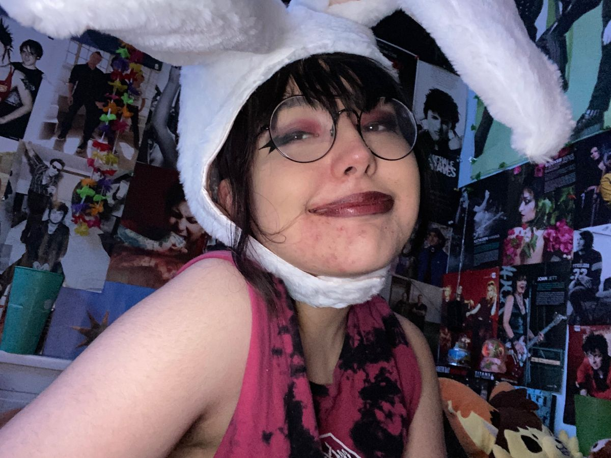 Pin By Emma On Me 3 Bunny Hat Punk Goth Ear Hats