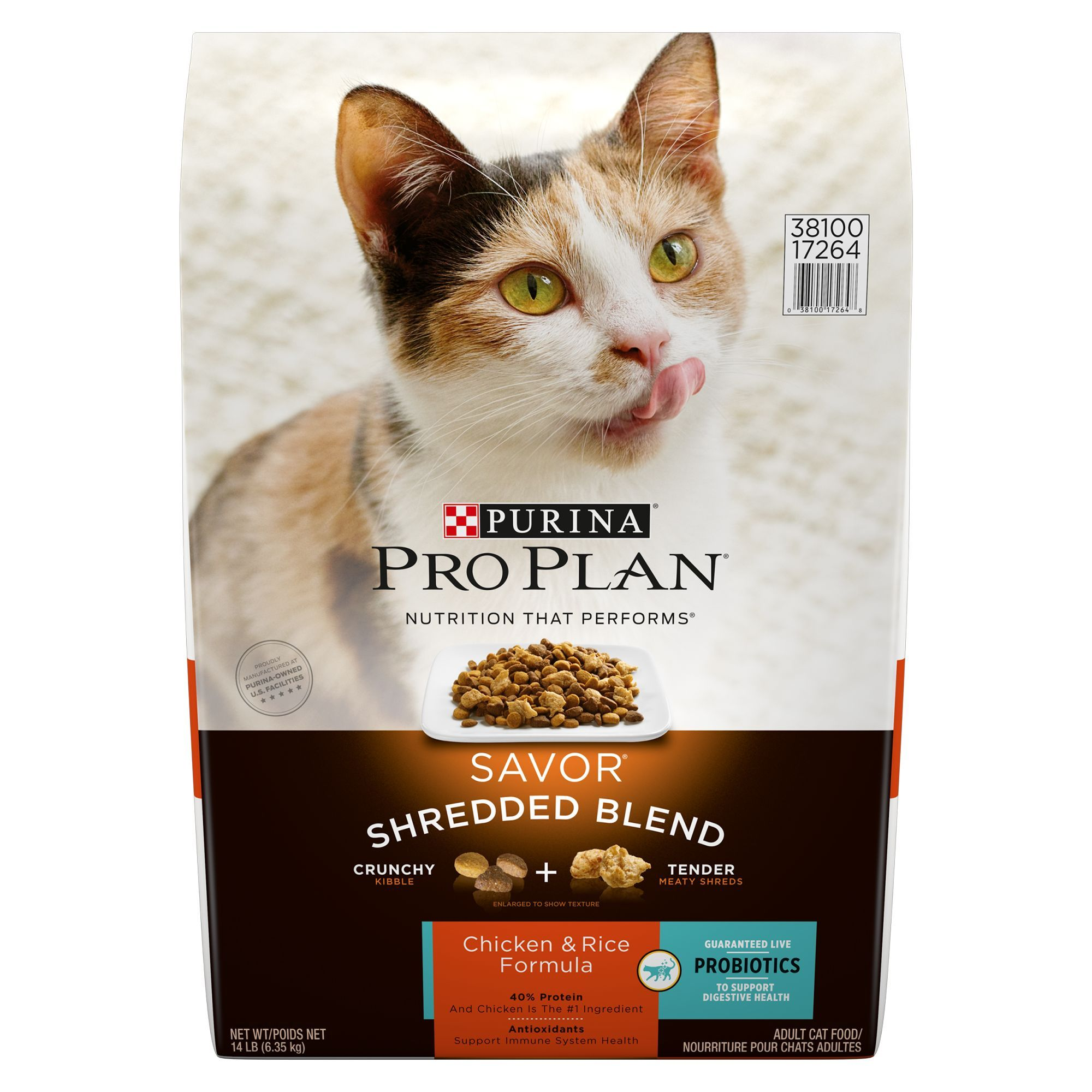 Purina Pro Plan Savor Shredded Blend Adult Cat Food Chicken And
