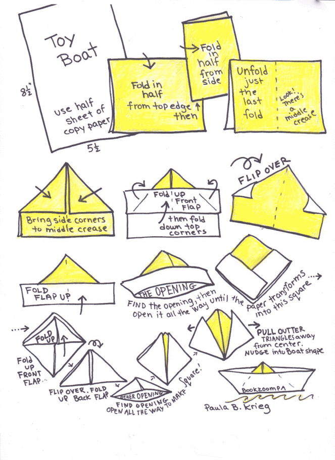 Origami Boats And Meandering Number Line With 4 Year Olds In 2020 Book Origami Origami Boat Paper Boat Origami