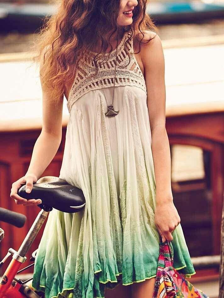 ☮ American Hippie Bohemian Style ~ Boho Tie Dye Summer Dress!