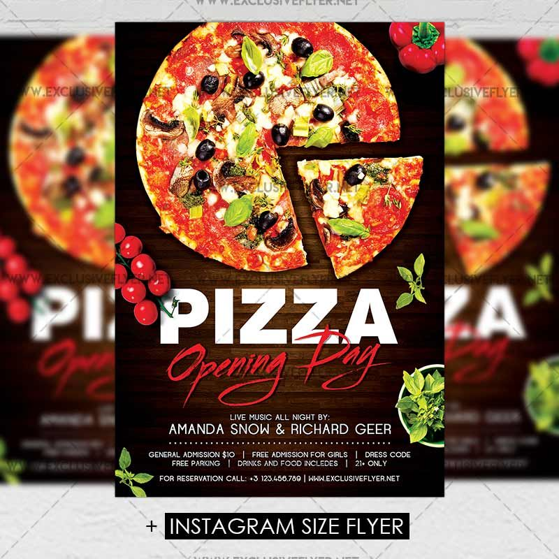 Pizza Opening Day Premium A5 Flyer Template Httpswww