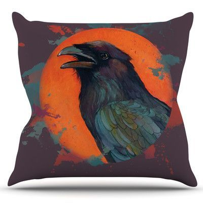 KESS InHouse Raven Sun Alternate by Lydia Martin Outdoor Throw Pillow