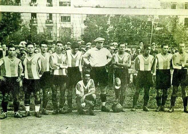 Cultural Leonesa 2-1 RCD Espanyol, 1929. Con Zamora de portero en el Espanyol.