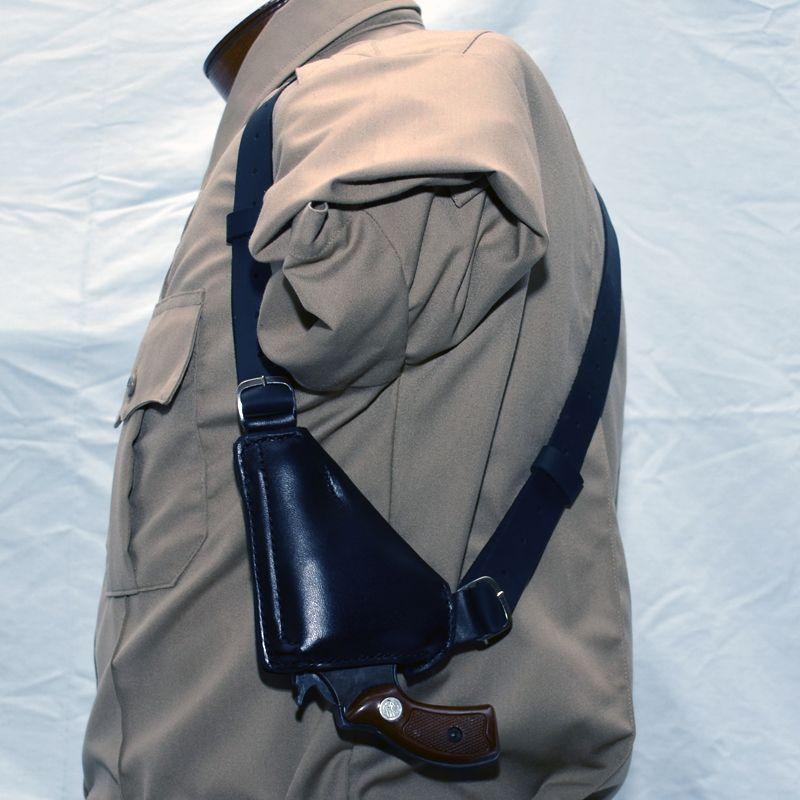 57 Upside Down Shoulder Holster Leather Shoulder Sling Backpack