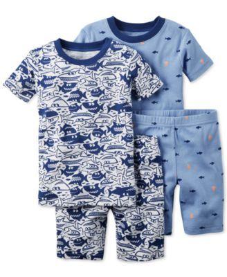 Carter s Baby Boys  4-Pc. Shark-Print Pajama Set  92f915088