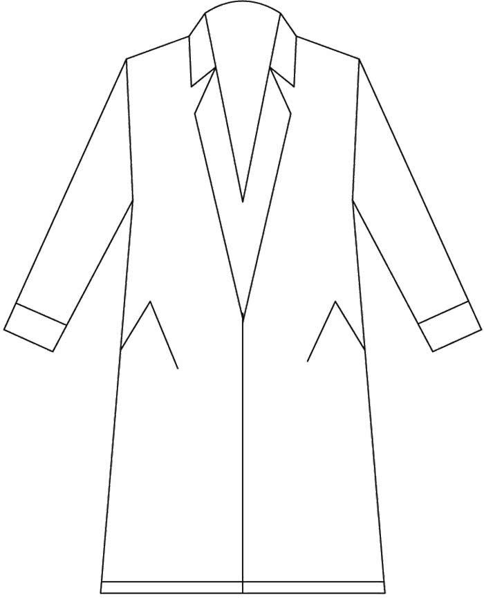 Rain Coat Long And Nice Coloring Page Winter Coloring