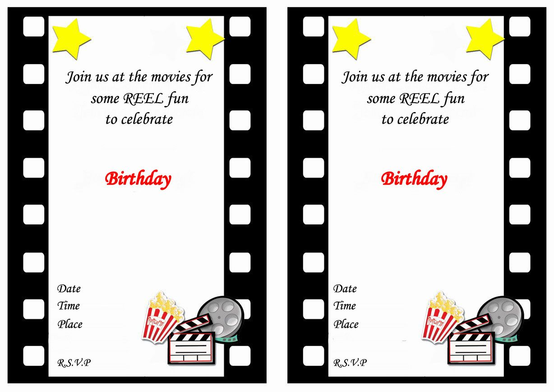 Movie Birthday Invitations – Birthday Printable   PARTY IDEAS (MOVIE ...