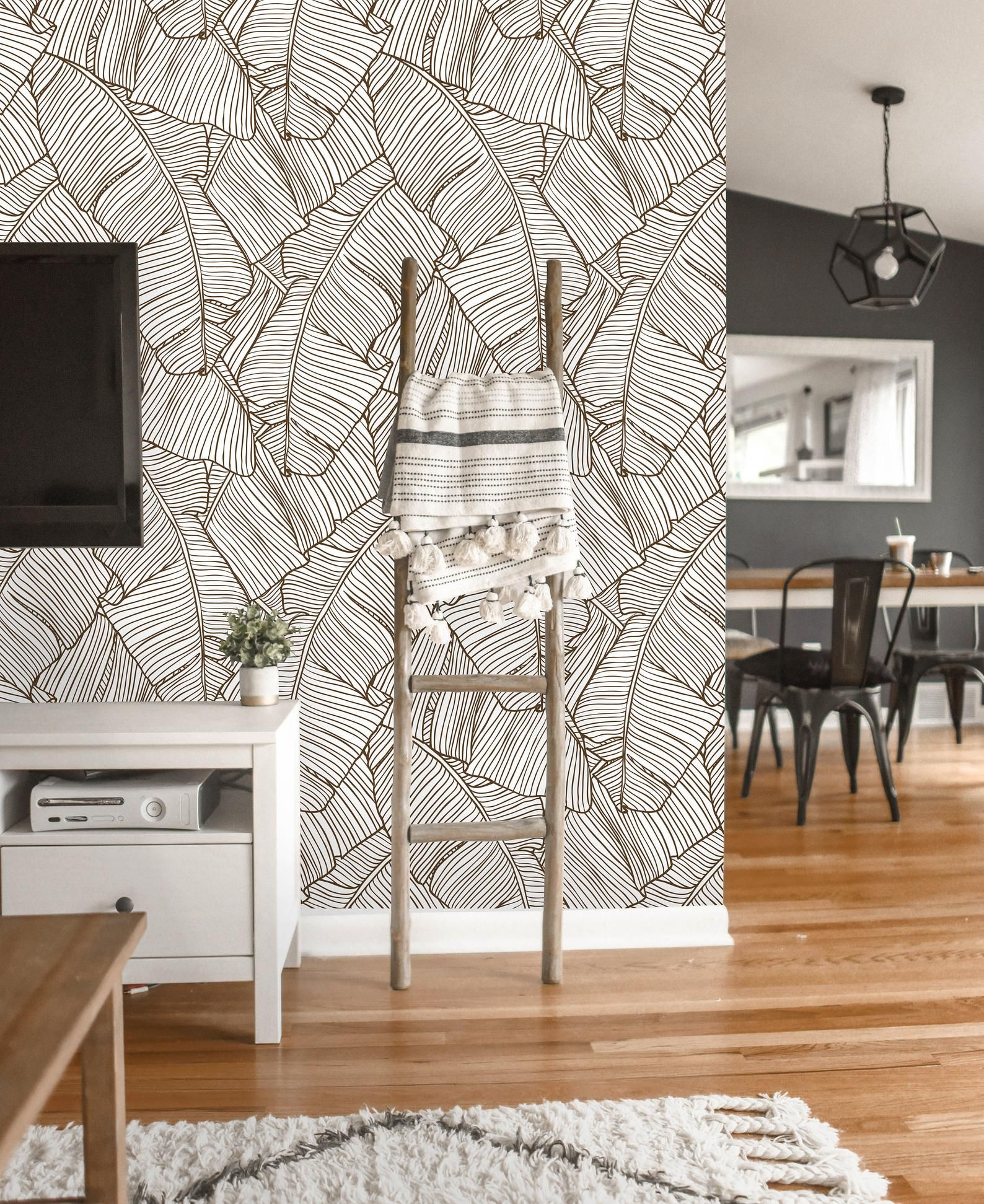 Removable Wallpaper Peel And Stick Tropical Wallpaper Self Etsy In 2021 Palm Wallpaper Tropical Wallpaper Removable Wallpaper