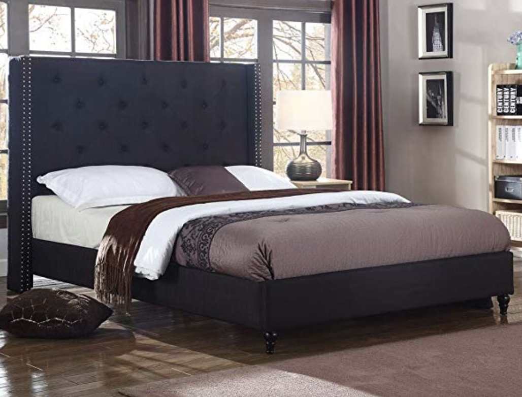 Easy To Assemble Plus No Box Spring Required Black Platform Bed
