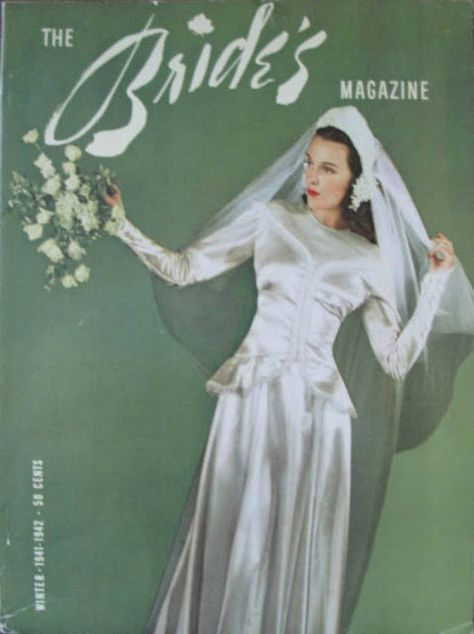 b756b326257 vintage everyday  Vintage Bridal Inspiration – A Collection of 27 Beautiful  Covers of The Bride s Magazine in the 1940s