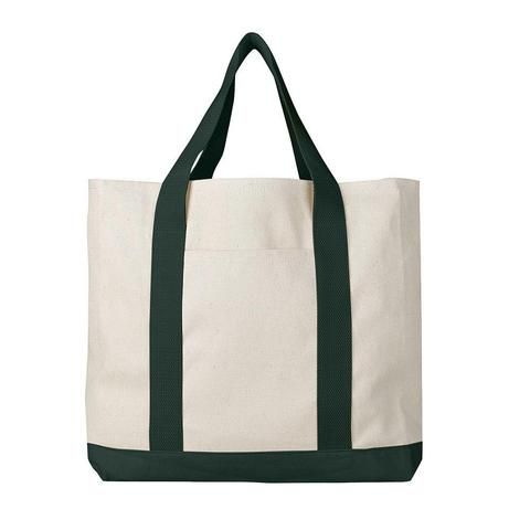 83c8a4fcc24f1 Heavy Cotton Canvas Large Size Sturdy Two-Tone Tote Bags - Single Bag –  BagzDepot™