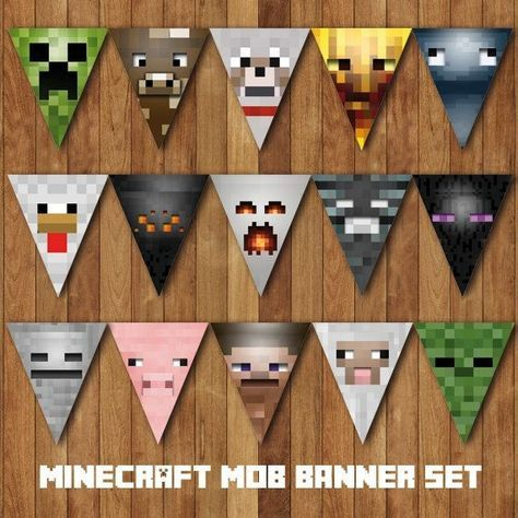 Sly image for free printable chevron banner minecraft