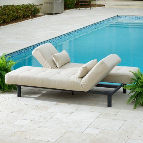 Desert Sand Convertible Outdoor Chaise Lounge