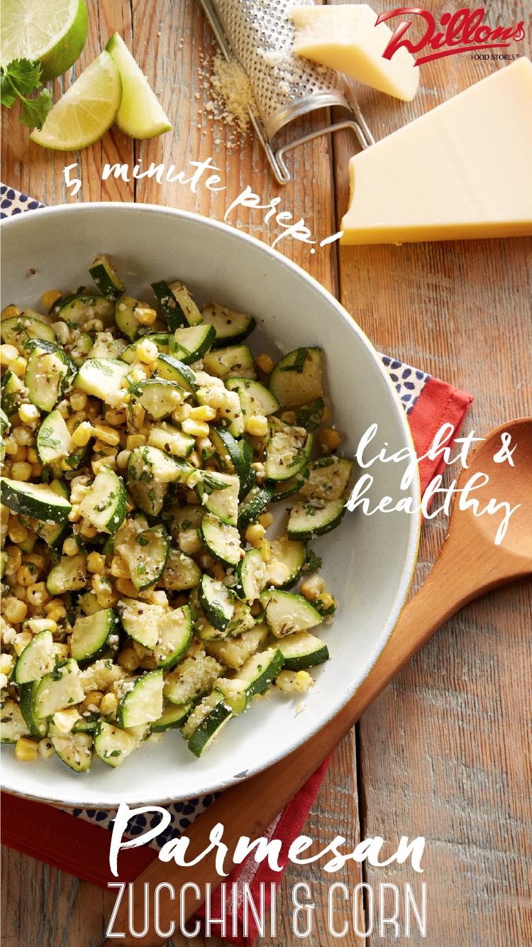 Parmesan Zucchini and Corn Recipe Fourth of July