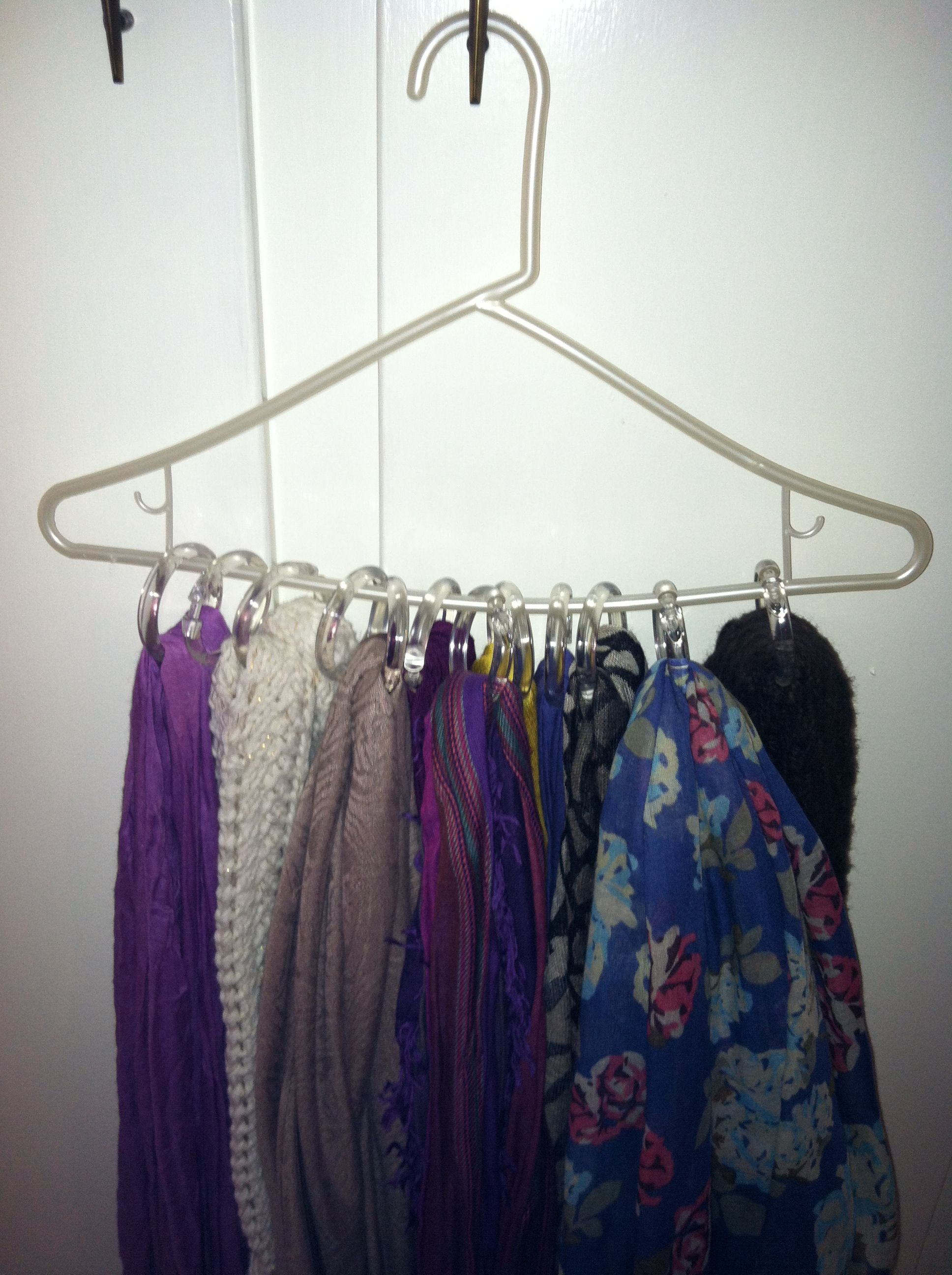 My scarves are organized!