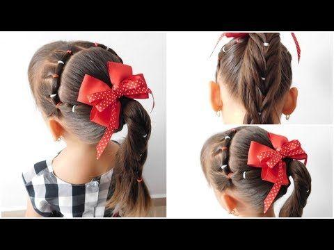 Peinado Con Ligas En Forma De Rombo Facil Y Diferente Para Niña Youtube Peinado Con Ligas Peinados Escolares Fáciles Peinados Para Niñas
