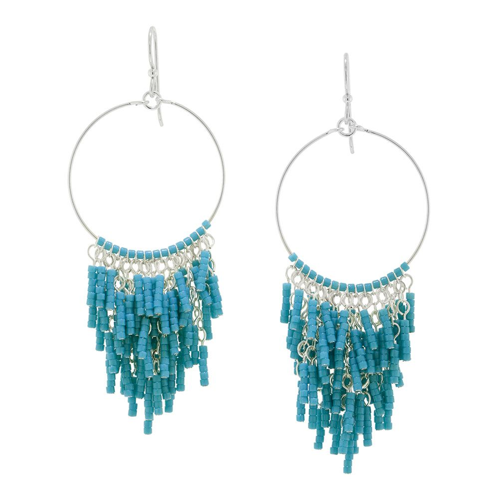 Biscay Bay Earrings Uses Wire Loops 11 0 Seed Beads Head Pins Wiring A Light Fixture On Loop