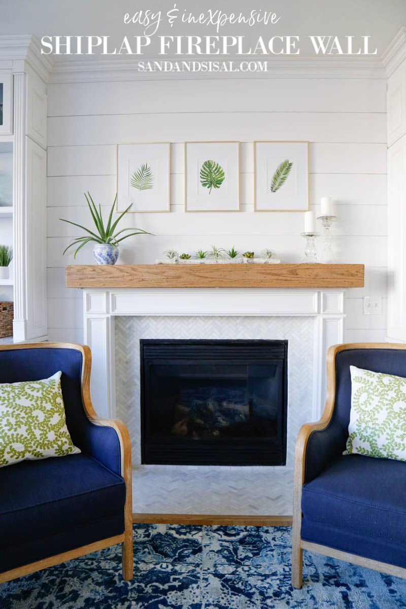 Easy And Inexpensive Shiplap Fireplace Wall Sand And Sisal In