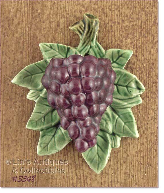 Vintage Grape Wall Pocket