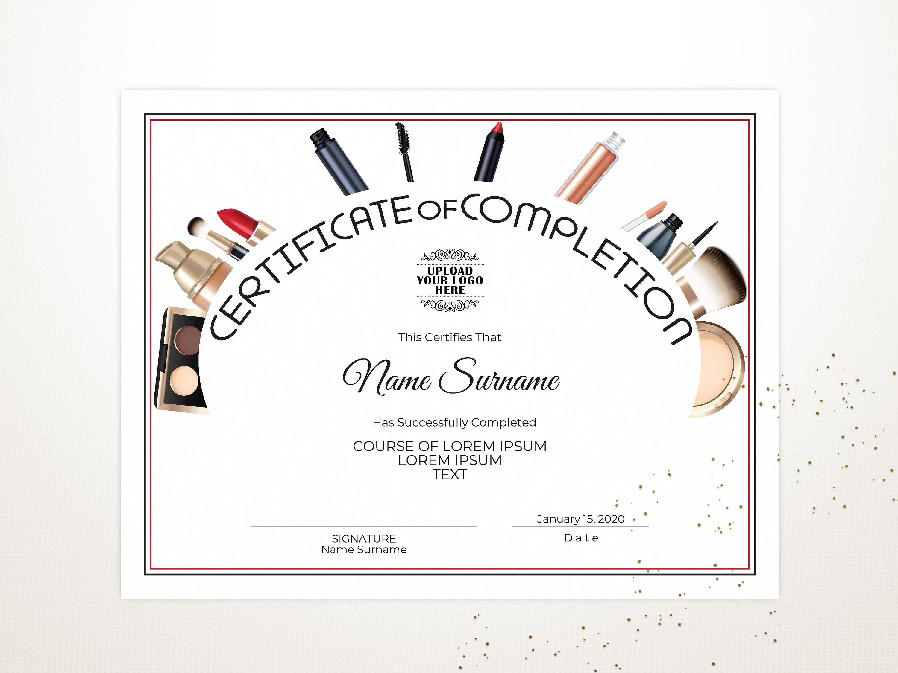 Editable Certificate Of Completion Template Modern Etsy Editable Certificates Certificate Of Completion Template Certificate Of Completion