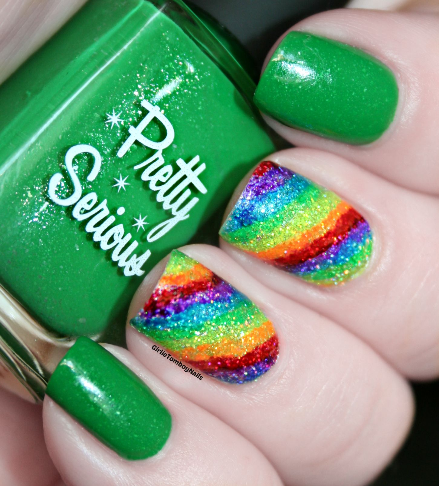 Sharpie Highlighter Rainbows Nail Art | Girlie Tomboy Nails | Girlie ...
