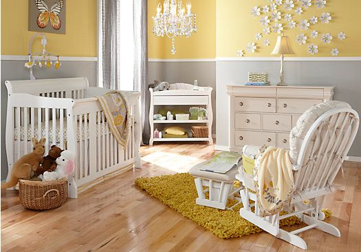 Tuscany 2 Pc White Nursery Rooms To Go Kids Nursery Baby Room Nursery Bedroom Ideas
