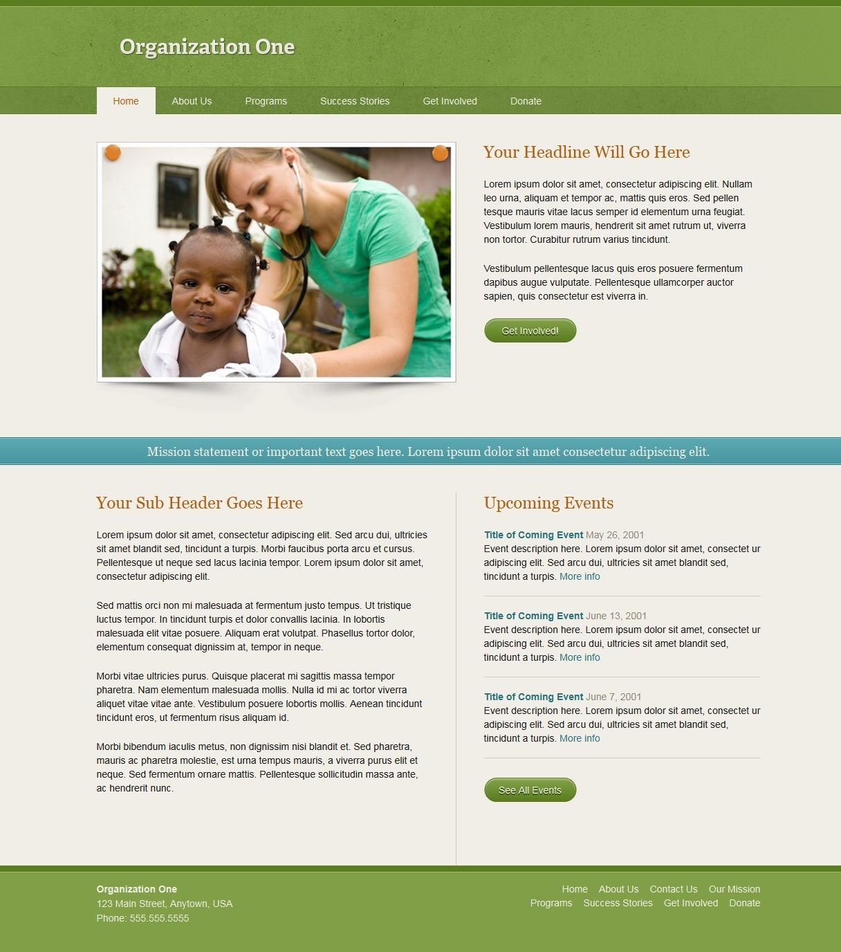 organization one website template organization one is an htmlcss template created with
