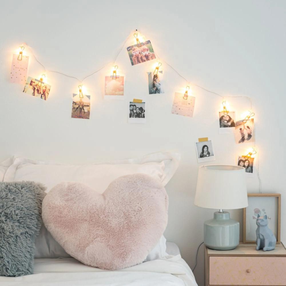 Déco murale  Guirlande lumineuse chambre, Guirlande lumineuse