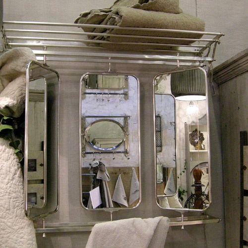 etag re 3 miroirs pat re porte serviettes en m tal et nickel chehoma andrews decoclico d co. Black Bedroom Furniture Sets. Home Design Ideas