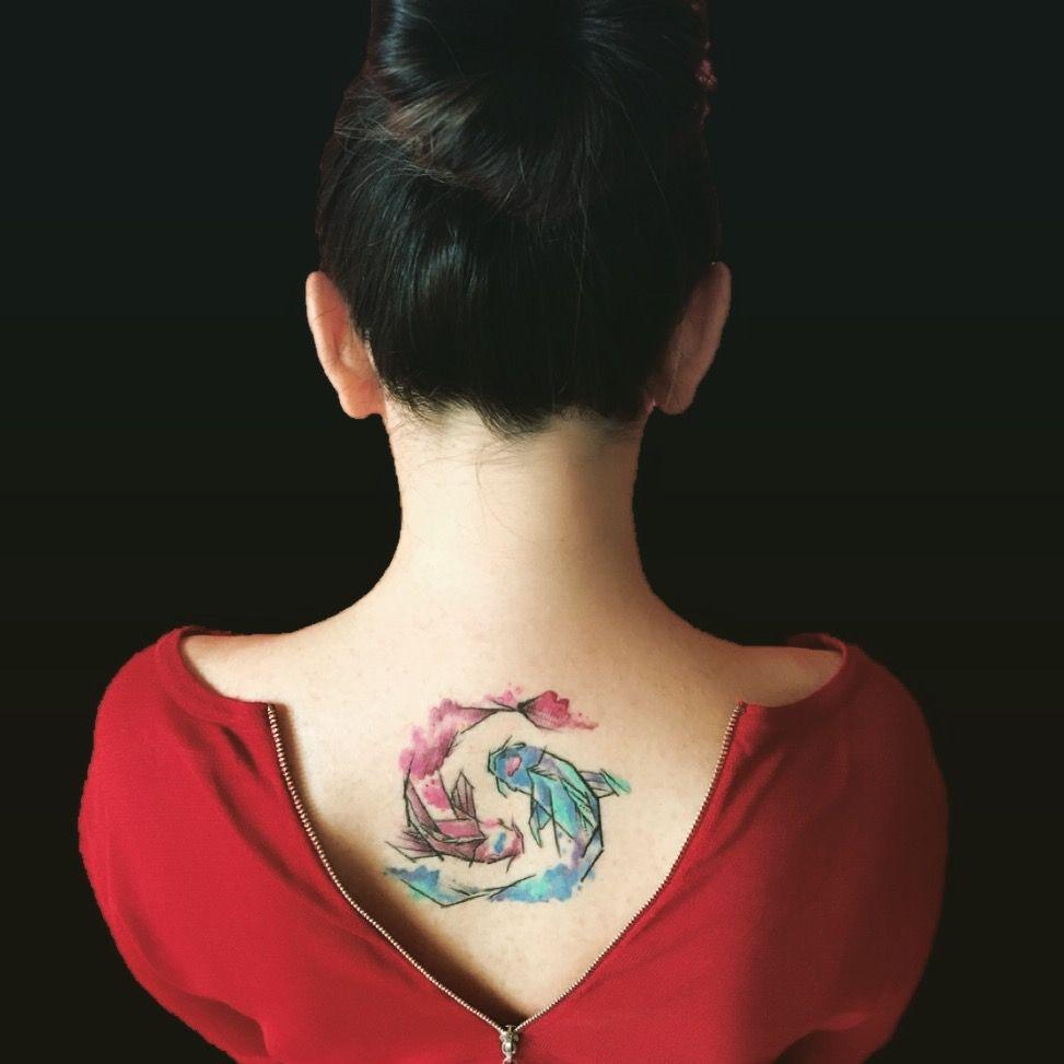 Koi Fish Tattoo Yin Yang Tattoo Girl Tattoo Back Tattoo Pisces