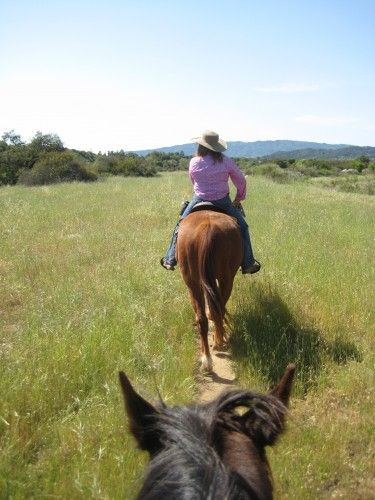 Horseback riding in the wild <3