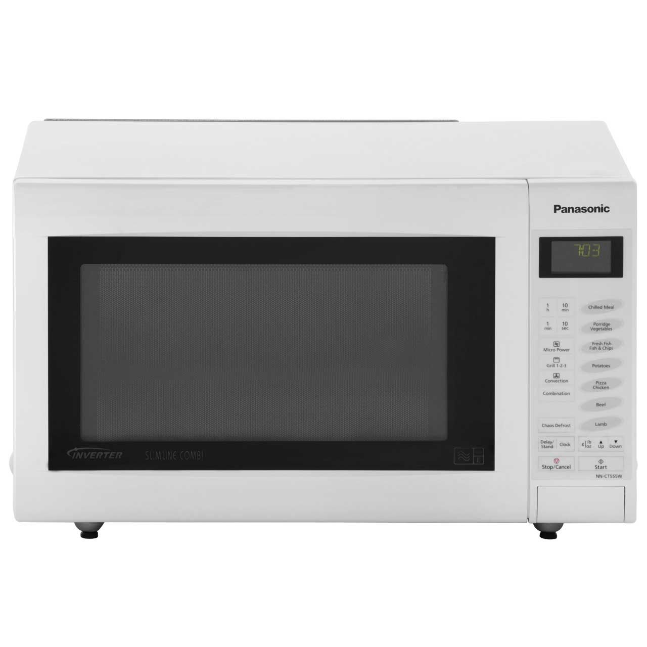 Panasonic Slimline Combination Nn Ct555wbpq 27 Litre 1000 Watt Microwave Oven White