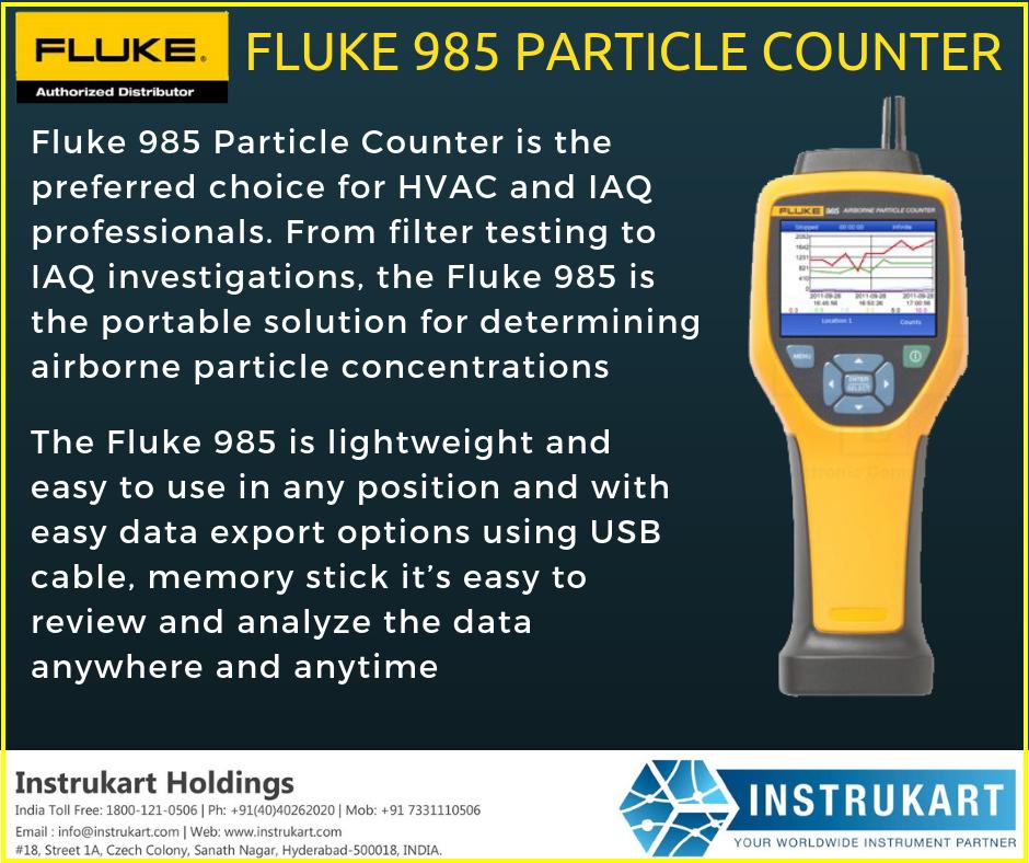 Fluke 985 Particle Counter Online Hvac Particle Counter Instrukart Counter Particles Preventive Maintenance