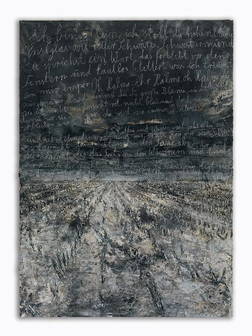 Anselm Kiefer  Aschenblume  2007-2012Oil, emulsion, acrylic, shellac and chalk on canvas380 x 280 cm (149.61 x 110.24 in)
