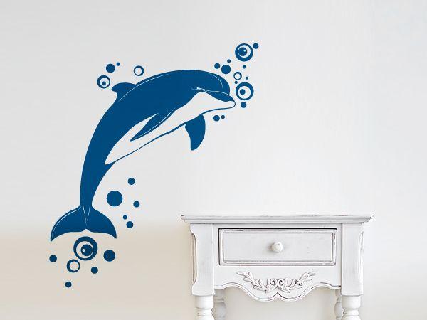 Wandaufkleber Delfin Wandtattoo Ideen Bad Pinterest - Wandtattoos Fürs Badezimmer