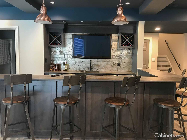 Shaker II Maple Slate Cabinets - Deerfield® - Cabinets.com ...