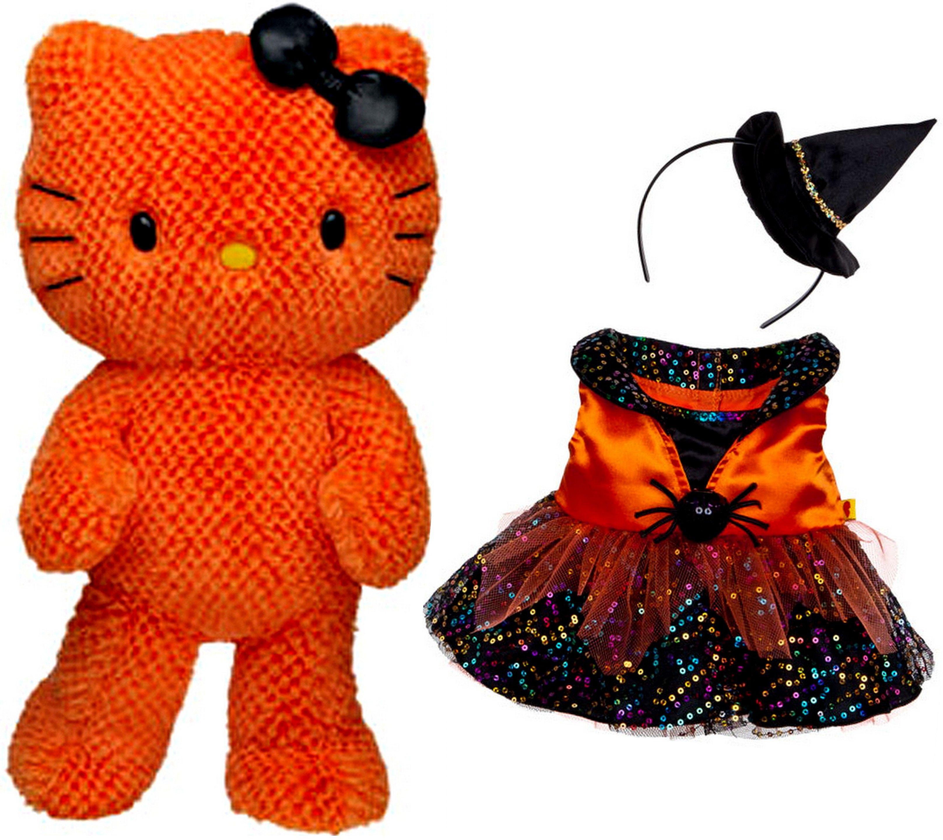 NEW Build a Bear Orange Hello Kitty Halloween Themed Teddy Doll ...
