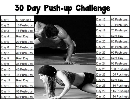 30 day pushup challenge - Google Search | A challenge ...