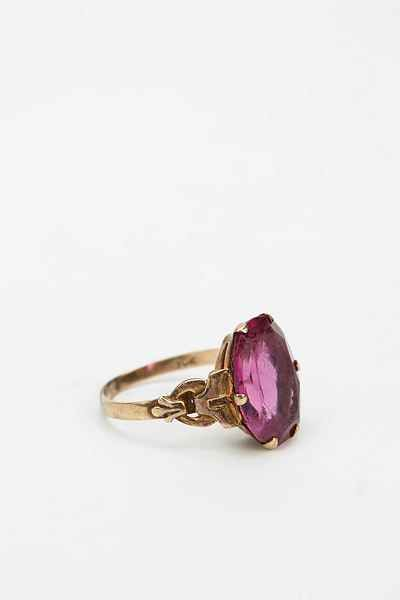 Vintage Victorian Ruby Ring - Urban Outfitters