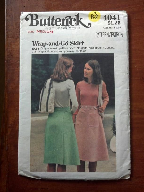 Butterick 4041 - vintage wrap skirt