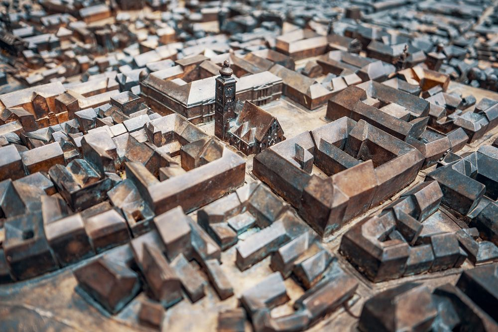 Zagreb Croatia 3d Bronze Map Zagreb Croatia Royalty Free Pictures