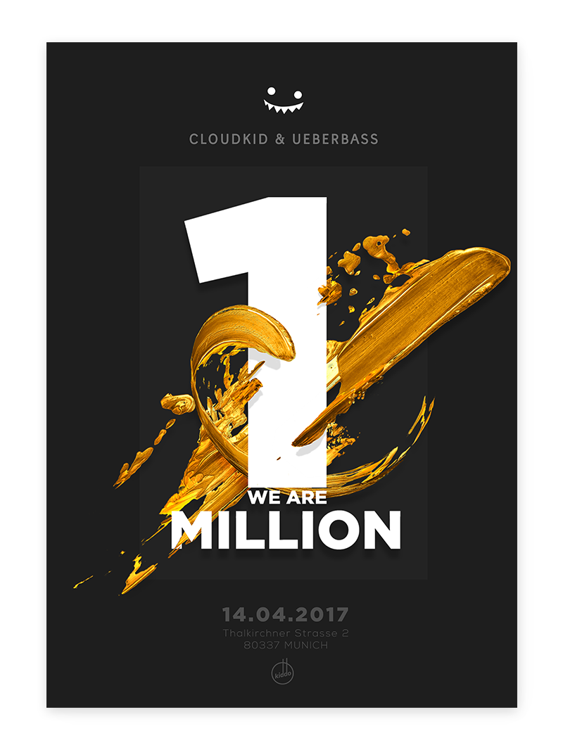 Poster design youtube - Cloudkid Lettering Poster 1m Youtube Subscribers