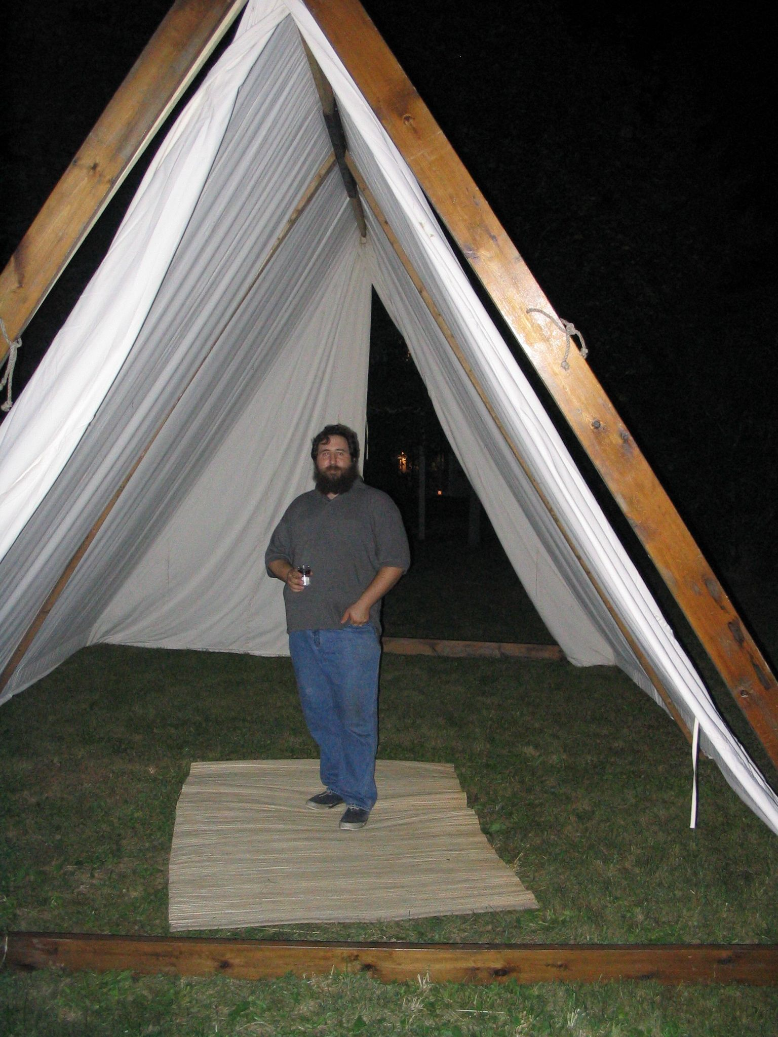 Seriously big norse a frame tent tents for Homemade wall tent frame