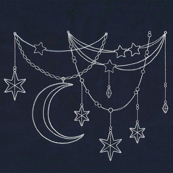 Photo of Moon and stars Urbanthreads.com                                                 …