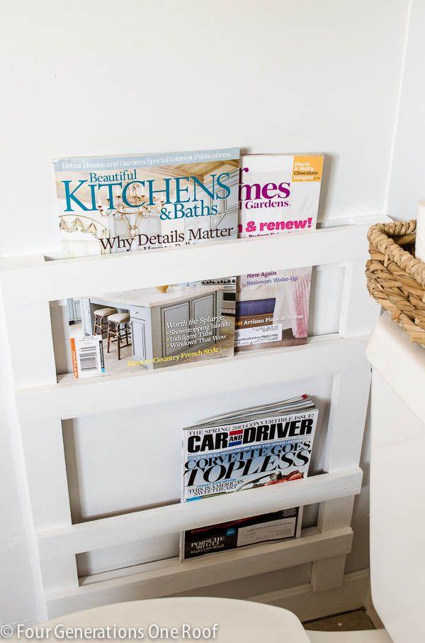 Bathroom Diy Magazine Rack Tutorial Diy Bathroom Diy Magazine