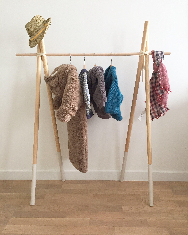 portant en bois wooden hanging diy mes cr ations. Black Bedroom Furniture Sets. Home Design Ideas