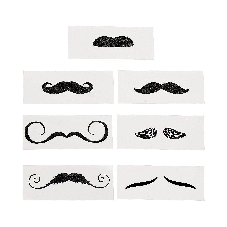 0fc69ffba5 Life-Size+Mustache+Tattoo+Assortment+-+OrientalTrading.com  5 per dozen