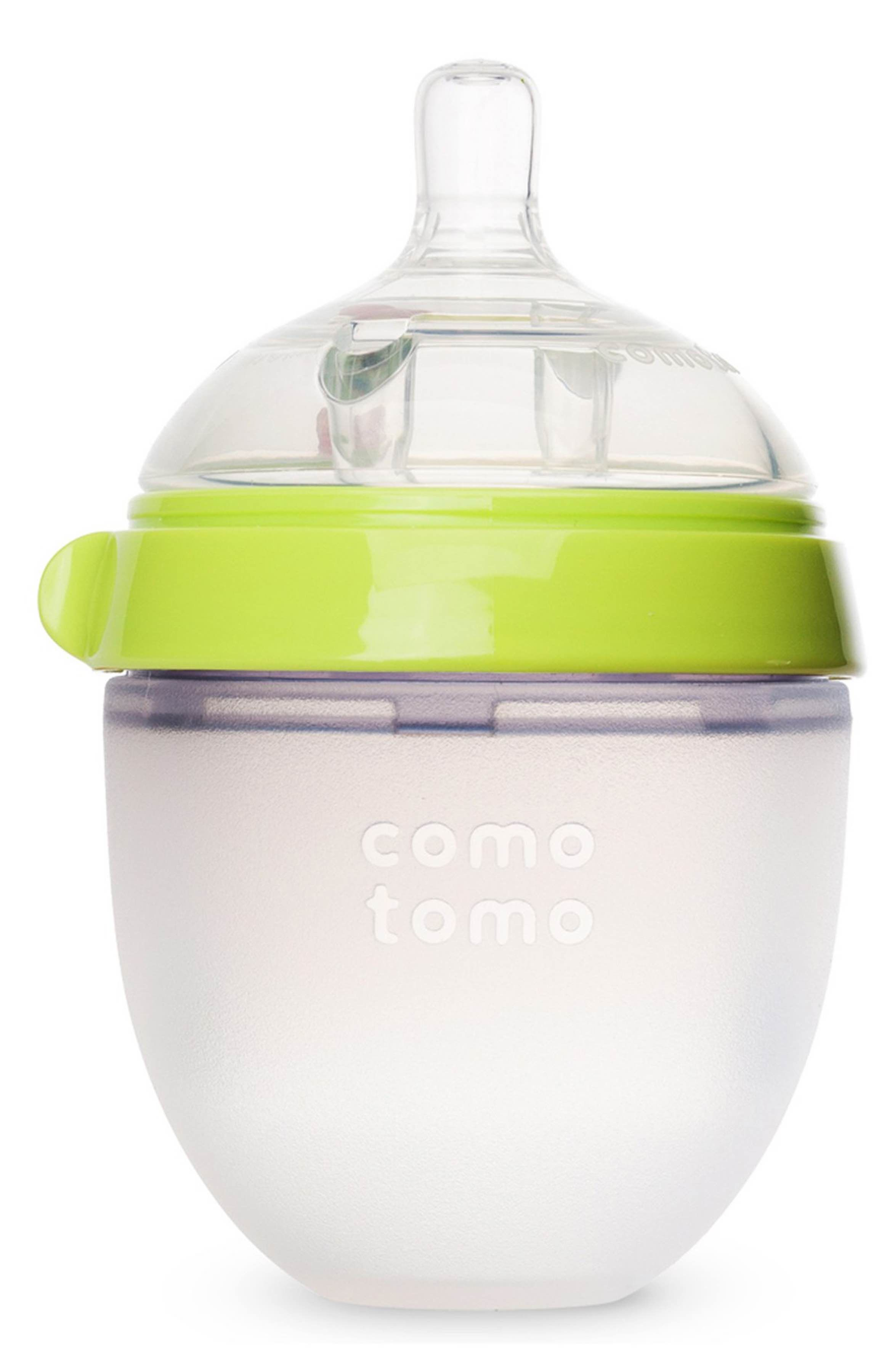 Comotomo slow flow baby bottle with images silicone