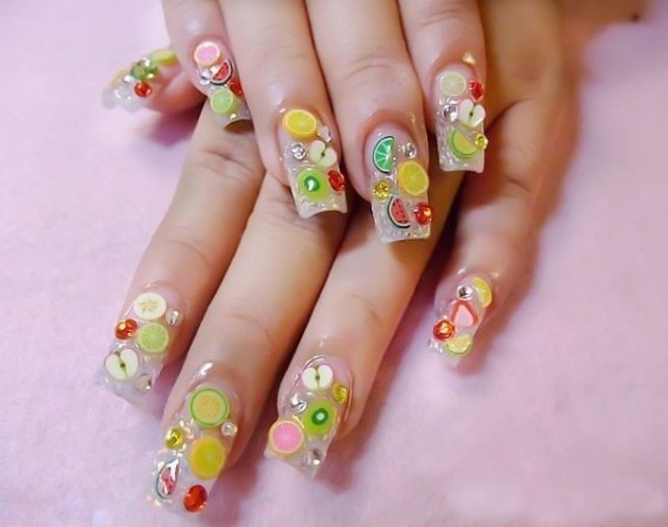 70 Hottest Most Amazing 3d Nail Art Designs Plain Nails